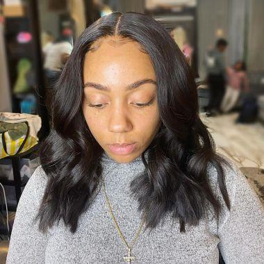 Long Bob Brazilian Hair Lace Front Wig 150% Density Celebrity Style
