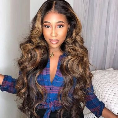 Highlight 13x4 Swiss Lace Frontal Wig Royal Wave 100% Virgin Hair