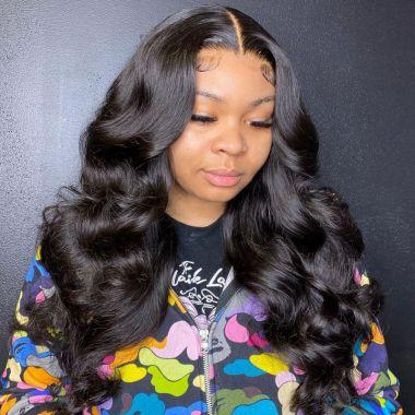 5x5 HD Lace Closure Wig Royal Wavy 200% Density Pre Bleached
