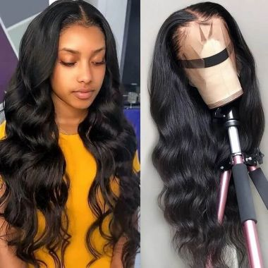 Pre-Plucked 150% Density 360 Lace Frontal Wig Body Wave Best Virgin Human Hair