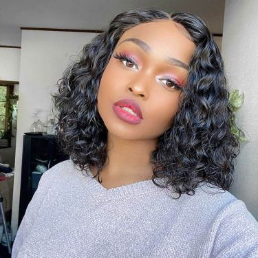 150% Density Celebrity Style Curly GLUELESS  Lace Frontal Wig