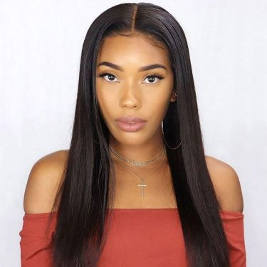 150% Density  Swiss Lace Front Wig 13x4 Straight Pre-Bleached Knots