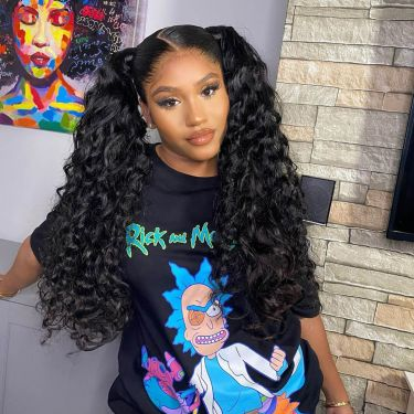IDefine Curly 360 Lace Front Wig 150% Density Human Wigs