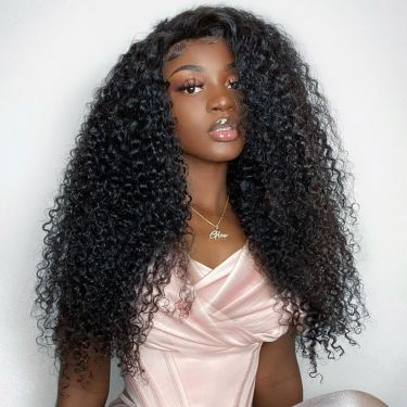 360 Lace Frontal Wig 150% Density Kinky Curly 100% Virgin Human Hair