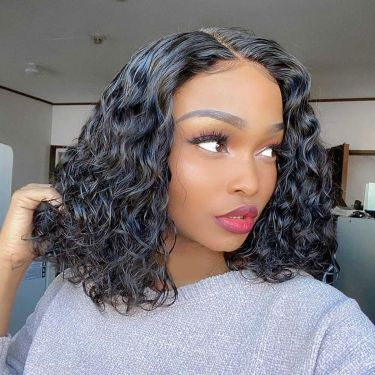180% Density Celebrity Style Curly GLUELESS  Lace Frontal Wig