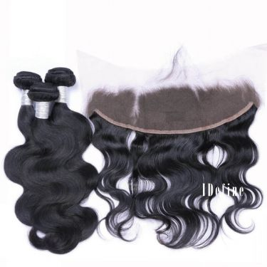 3 Bundles With Frontal Body Wave Human Virgin Hair