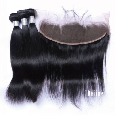 3 Bundles With Frontal Straight Human Virgin Hair