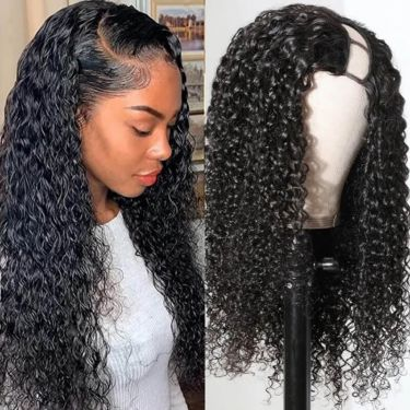 Blow Out Wavy Affordable 150% Density U-Part Wig 100% Virgin Hair