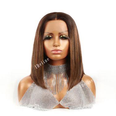 IDefinewig 180% Density Lace Bob Wig T Part Wig #26p2 Color