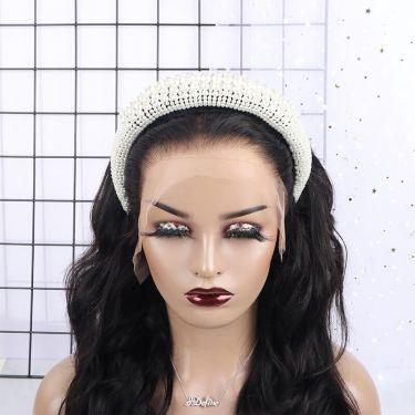 IDefine Luxury Pearl White Headband