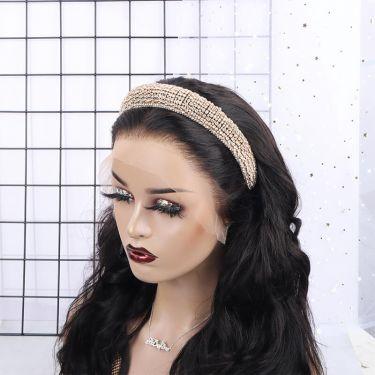IDefine Crystal Golden Color Headband