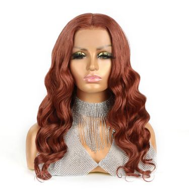 Glueless Lace Wig 13X5.5 T Part Lace Wig 180% Density #33 Color Human Hair
