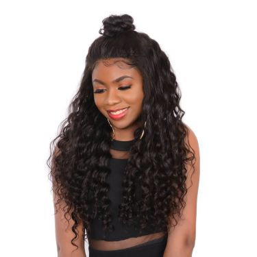 360 Lace Wig Deep Wave 180% Density Pre-plucked Invisible Knots 100% Virgin Hair