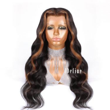 Highlight 5x5 Hd Lace Closure Wig Wavy 200% Density Pre Bleached