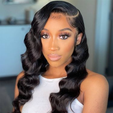 13x6 Swiss Lace Front Wig Royal Wavy 180% Density Pre Bleached