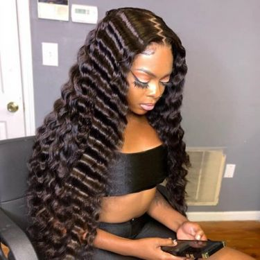 13x6 Swiss Lace Front Wig Tropical Deep Wave  High Density Natural Hairline