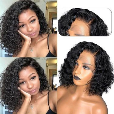 High Density Pre Plucked 13x4 Swiss Lace Front Bob Wig 100% Virgin Hair
