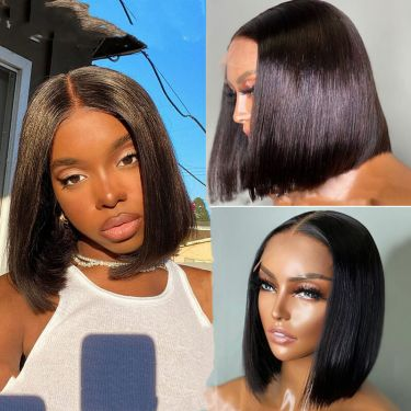Silky Straight Bob Style Swiss Lace T Part Wig Beginner Friendly