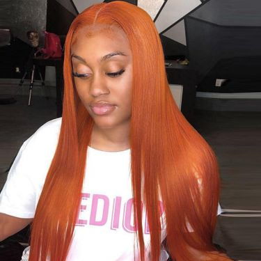 Glueless Lace Wig 13X5.5 T Part Lace Wig 180% Density #350 Color Human Hair