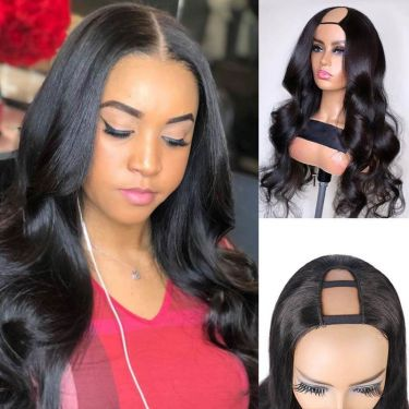 U-Part Body Wave 150% Density Glueless Human Hair
