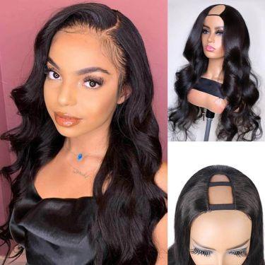 Glueless Body Wave U-Part Wig 150% Density100% Human Hair