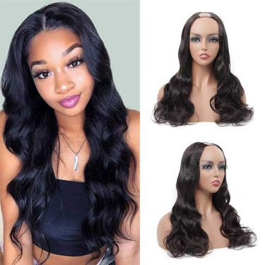 Body Wave Affordable U-Part Wig 150% Density 100% Virgin Hair