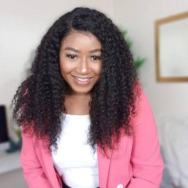 Glueless U-Part Wig Deep Curly 150% Density Human Hair Wigs