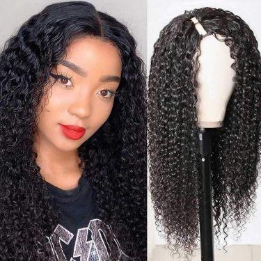 Deep Curly Affordable U-Part Wig 150% Density 100% Virgin Hair