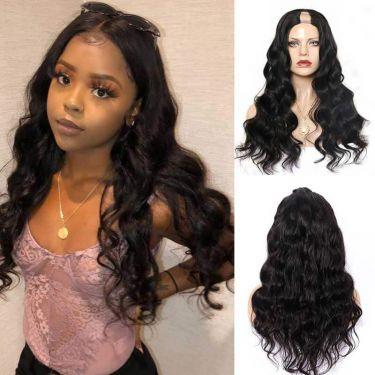 U Part Wig 150% Density Royal Weavy Affordable Human Hair Wig