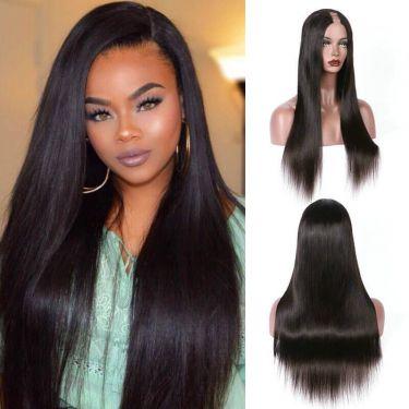 Straight Affordable U-Part Wig 150% Density 100% Virgin Hair