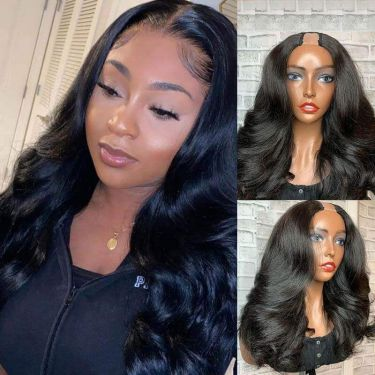 Glueless Blow Out U-Part Wig 200% Density Human Wigs