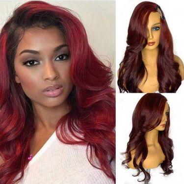Body Wave U-Part Wig 150% Density 99J# Color Human Hair Wig