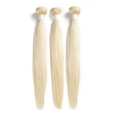 3 Bundles 613 Blonde Human Virgin Hair