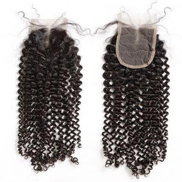 3 Bundles With Closure Italy Curly Wave Human Virgin Hair
